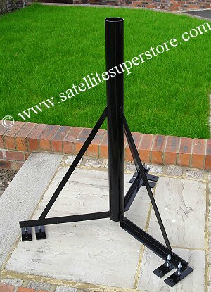 76mm, 1.0m high ground stand with 6 feet. 3 of the feet are optional.
