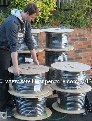 100m reel of 4 LNB cable.