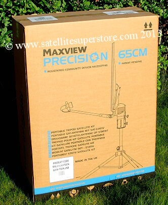 Maxview Precision 65cm twin LNB dish kit