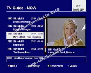 Humax Electronic Program Guide.