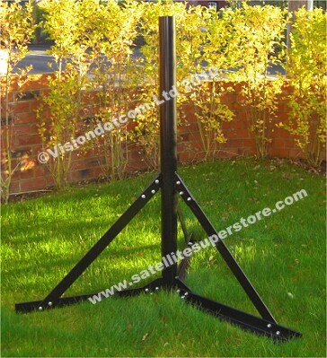 1.6m ground stand for motorised 2.4m dish