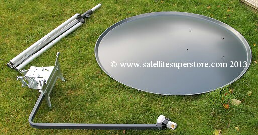 Primesat 1.1m aluminium dish with wing nuts.