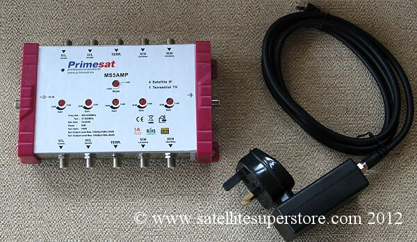 Primesat 5 in and 5 out amp
