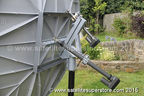 Satellite Dishes With Inclined Orbit Polar Mount Motors