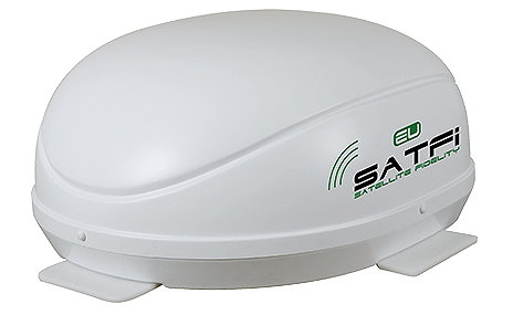 Satfi RV self-seeking dome.