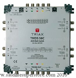 Triax Sky Q dSCR multiswitches 5 in and 8 out.