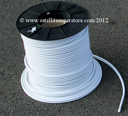 100m reel of twin LNB cable.