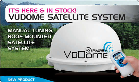 Maxview Omnisat VuDome with remote control.