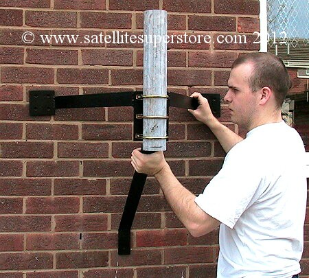 450mm stand off,75mm pole Wall Mount