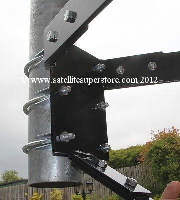 550mm stand off,75mm pole Wall Mount