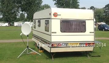 travel trailer satellite tv