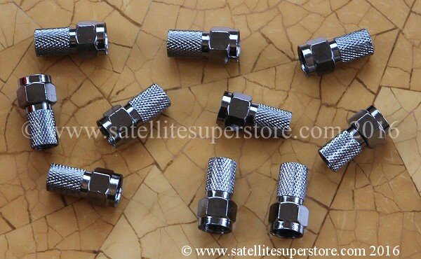 Twist on 7mm silver F Connectors