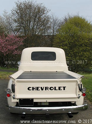 Hard tonneau cover for the 1947-53 Chevy truck.
