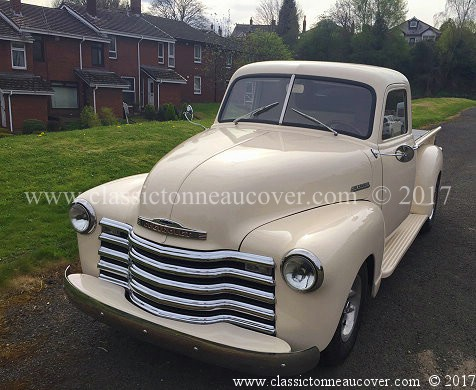 1947-53 Chevy truck. Cover removed in a few minutes.