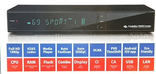 AB CryptoBox 752HD Combo satellite receiver