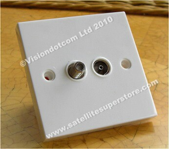 Satellite outlet plates, satellite wall plates, multiswitch