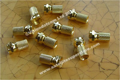 Twist On gold F Connectors