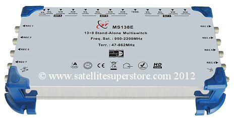 Primesat 13 input, 8 output multiswitch