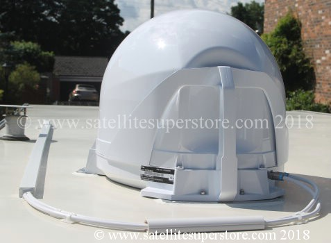 Maxview VuQube II on roof with optional roof kit fitted