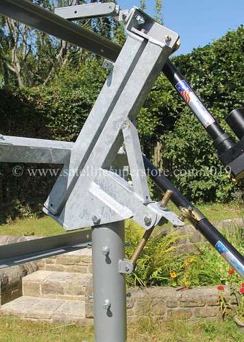 Primesat Inclined Orbit Polar Mount for Raven 2.4m dish