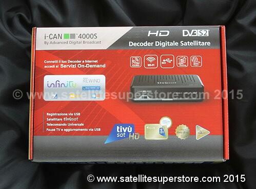 Italian TV satellite receivers  Tivosat HD satellite receiver
