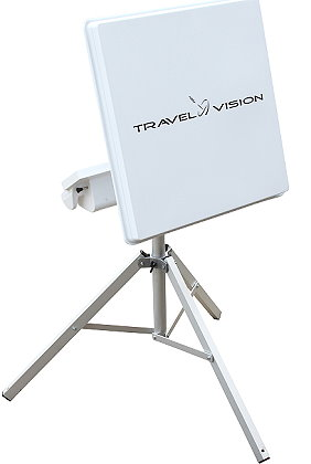 Travel Vision automatic flat plate antenna with Tripod